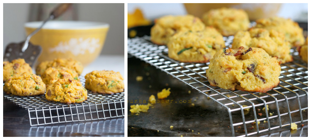 Paleo Pumpkin, Bacon & Chive Biscuits