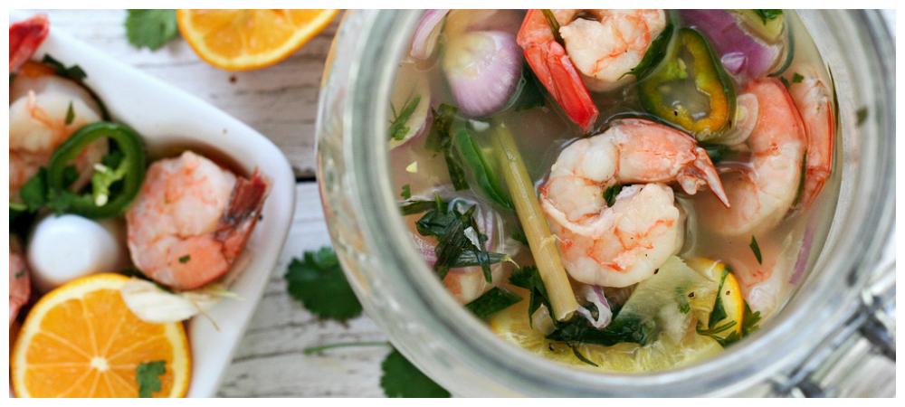 Overnight Vietnamese Pickled Shrimp