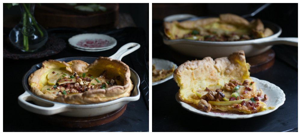 Savory Dutch Pancake w/Prosciutto & Apples
