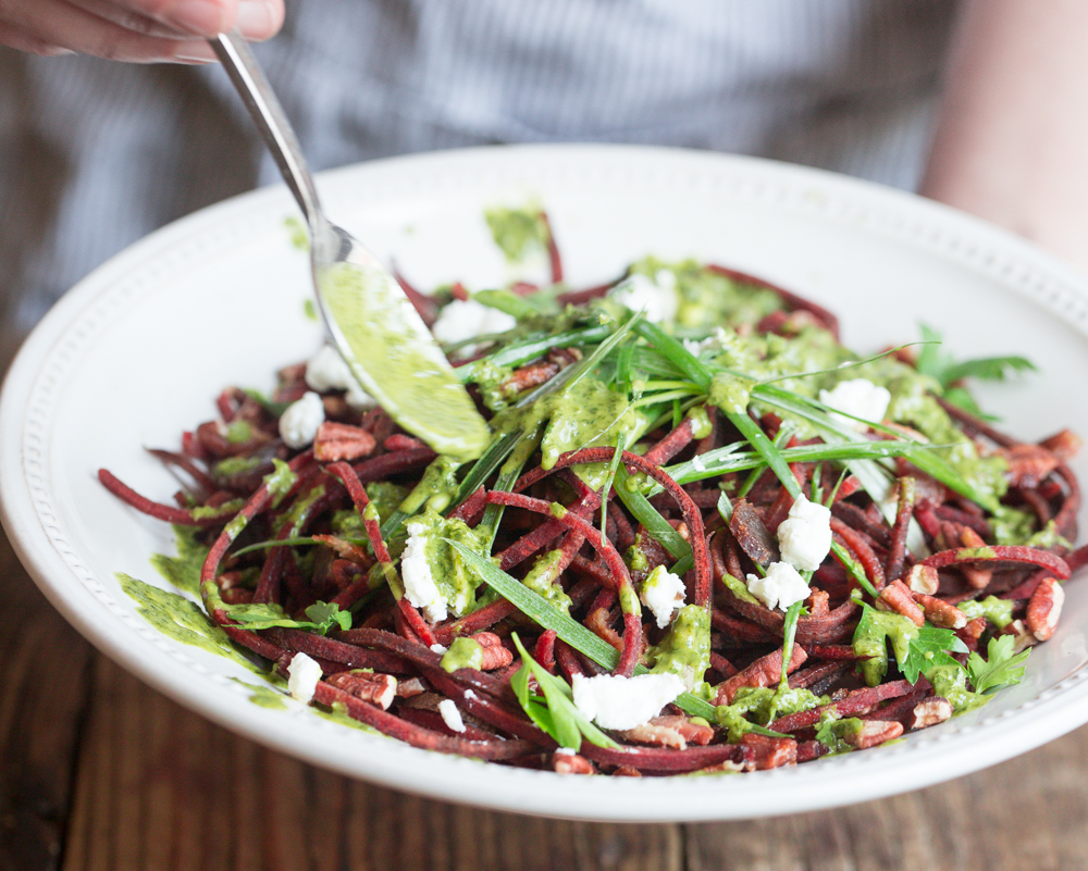 Spiralized beet salad 1