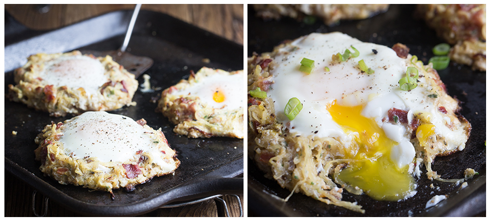 Bacon & Eggs Spaghetti Squash Nests