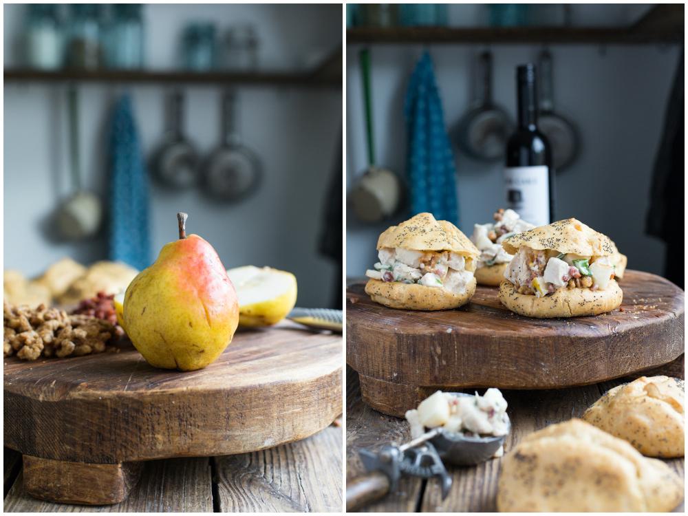 Pear Chicken salad Collage 1