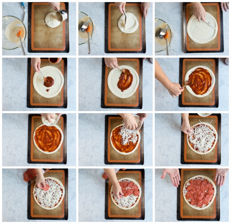 Choux Pizza Instructional collage 2