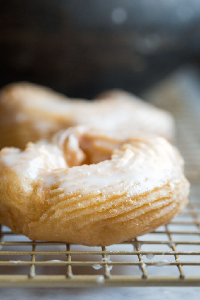 grain-free french crullers closeup single